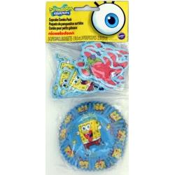 Papilotki SpongeBob z ozdobami do muffinów Wilton 415-3340