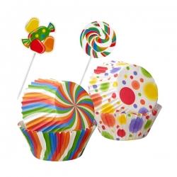 Süße Papierförmchen mit Schmuck für Muffins Wilton 415-8119