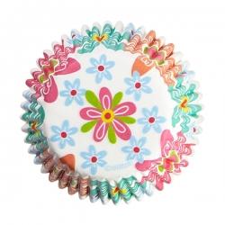 Papierförmchen mit Blumen für Muffins Wilton 415-6080