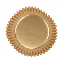 Papierförmchen für Mini Muffins gold Wilton 415-1413