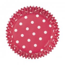 Rote Muffinsförmchen mit Punkten Wilton 415-0148