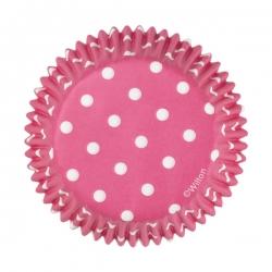 Różowe papilotki w kropki do muffinów Wilton 415-0158