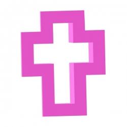 Plastikförmchen für Kekse und Lebkuchen Kreuz Mini