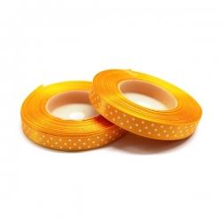 Pomarańczowa wstążka w kropki 6020