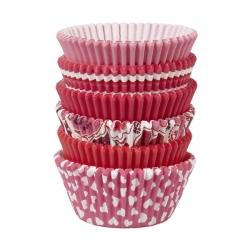 Walentynkowe papilotki do muffinów różowe czerwone 150 szt. Wilton 415-2055