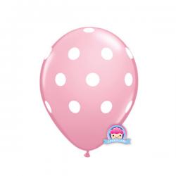 Balon w kropki jasnoróżowy