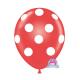 Balon w kropki czerwony