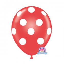 Luftballon gepunktet rot