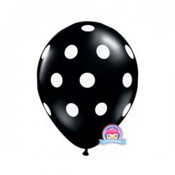 Balon w kropki czarny