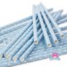 Papierowe słomki błękitne w kropeczki