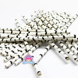 Papierstrohhalme mit Schnurrbärten