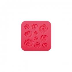 Foremka silikonowa różyczki - szablon mata Tescoma