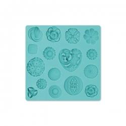 Foremka silikonowa buttons - ornamenty - szablon mata