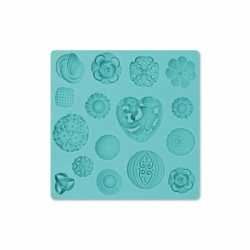 Silikonförmchen Buttons Ornamente -Schablone Matte Modecor