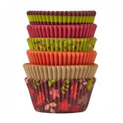 Papilotki do muffinów kolorowa złota jesień 150 szt. Wilton 415-3189