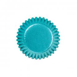 Papierförmchen Bonbon blau 2,5 cm glitzernde Wilton 415-313