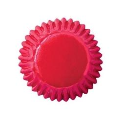 Papilotki bon-bon czerwone 2,5 cm błyszczące Wilton 415-314