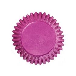 Papierförmchen Bonbon rosa 2,5 cm glitzernde Wilton 415-315