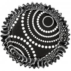 Schwarze Alluminiumförmchen mit Tupfen WIlton 415-0488