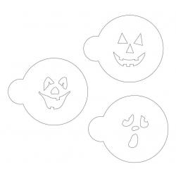 Kulinarischer Dekorationsschablonensatz für Kekse Halloween 1 - 3 Stk.