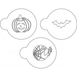 Zestaw szablonów kulinarnych Halloween III - 3 szt.