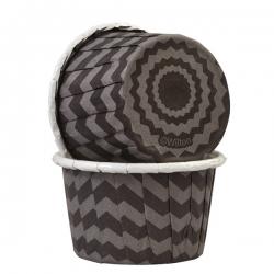 Pappsbecher für Muffins schwarz-grau 24 Stk. Wilton 415-3168