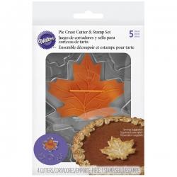 Metallförmchen Blätter mit Stempel 5 Stk. Wilton 2104-8099