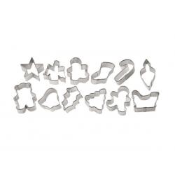 Foremki metalowe mini Boże Narodzenie 12 szt. Wilton 2308-1250