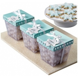 Pudełka świąteczne w śnieżynki na ciasteczka 3 szt. Wilton 415-3293