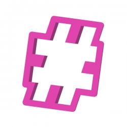 Foremka do ciastek i pierników Hashtag znak