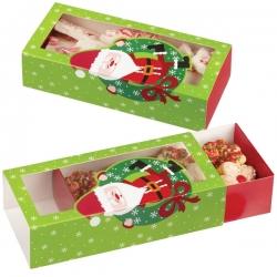 Pudełko świąteczne na ciasteczka z Mikołajem 3 szt. Wilton 415-1830