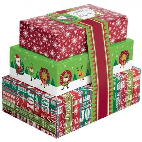 Świąteczne pudełka podziel się słodyczą 3 szt. Wilton 415-1828
