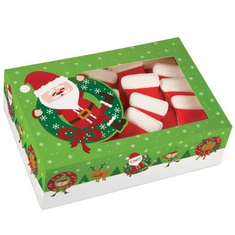 Große Weihnachtsschachtel mit Weihnachtsmann 2 Stk. 415-1829 Wilton