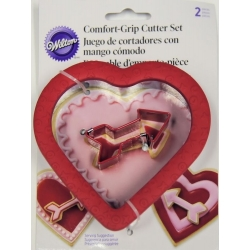 Förmchen Comfort Grip Herz mit Pfeil 2 Stk. Wilton 2310-7081