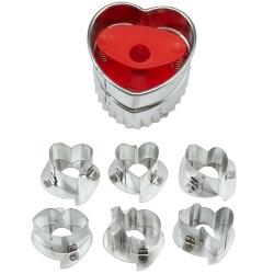 Förmchen für Valentinsherzen Kekse 6 Stk. Wilton 2308-0904