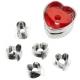 Foremki do walentynkowych serc ciasteczek Linzer 6 kształtów Wilton 2308-0904