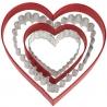 Zestaw 4 metalowych foremek w kształcie serc Wilton 2308-1322
