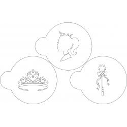 Kulinarische Schablonen für Kekse Prinzessin 3 Stk.