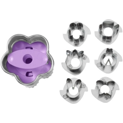 Foremki do wielkanocnych ciasteczek 6 wzorów Linzer Wilton 2308-0345