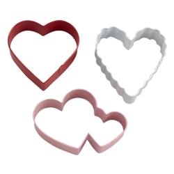 Walentynkowe serca foremki metalowe 3 szt. Wilton 2308-0215