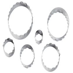 Set von 6 Stk Formen oval gerippt glatt Wilton 417-2583
