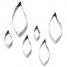 Set von 6 Formen gerippte und glatte Blätter Wilton 417-2585