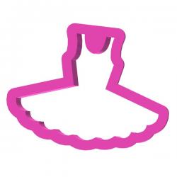 Das Förmchen für Kekse und Lebkuchen Balettkleid 2