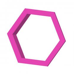 Das Förmchen für Kekse und Lebkuchen Hexagon Sechseck Honigwabe