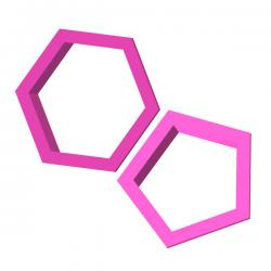 Foremka do ciastek i pierników Piłka nożna heksagon pentagon 2 szt.