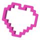 Foremka do ciastek i pierników Pikselowe serce 2
