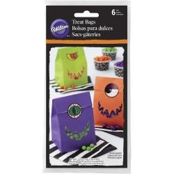 Die Papiertüten Monster Ungeheuer mit Aufklebern Halloween 6 Stk. Wilton 1912-6106