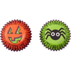 Kleine Papierformen für Muffins Halloween Spinnen und Kurbisse 100 Stk. Wilton 415-9691