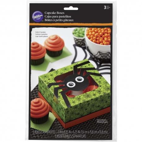Halloweenowe pudełka z okienkiem na wypieki pajączek 2 szt. Wilton 415-9978