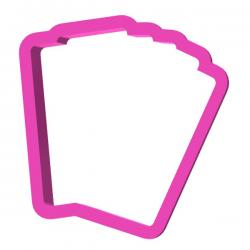 Das Förmchen für Kekse und Lebkuchen Kartenstock